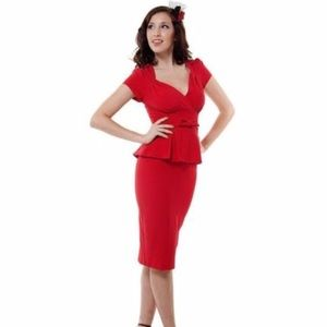 Stop Staring Obsession Dress in Red, Size M